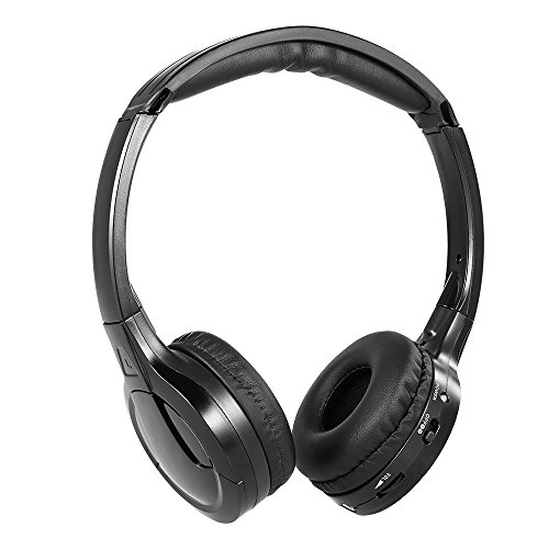 Walmeck Wireless Headphones IR Infrared Headphones Stereo Headset Wired Earphone Dual Channel for In-car DVD Player