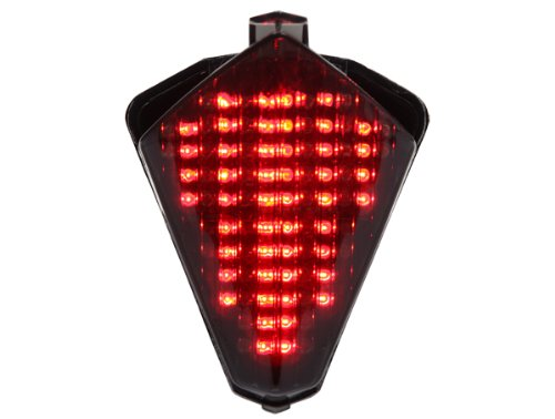 (Integrated Sequential LED Tail Lights Smoked Lens for 2007-2008 Yamaha YZF R1)