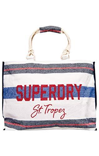 red navy Tote Rope L Multicolore Borsa Amaya Cm Superdry Mano Stripe A w X 56x36x16 Donna H Zfgq4w