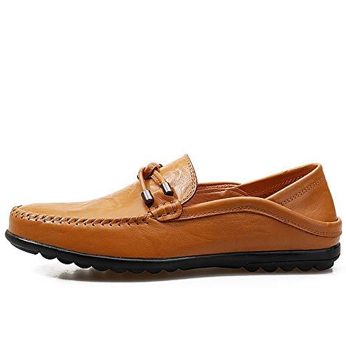 de Negocios 0cm 0cm Zapatos único Confortables de Corte Pisos de Zgsjbmh Moccasin liviano Amarillo Gommino Diseño Mocasín Gommino Amarillo 24 27 Marrón y Cuero Suave Tamaño Zapatos bajo Genuino de SqBwaq68
