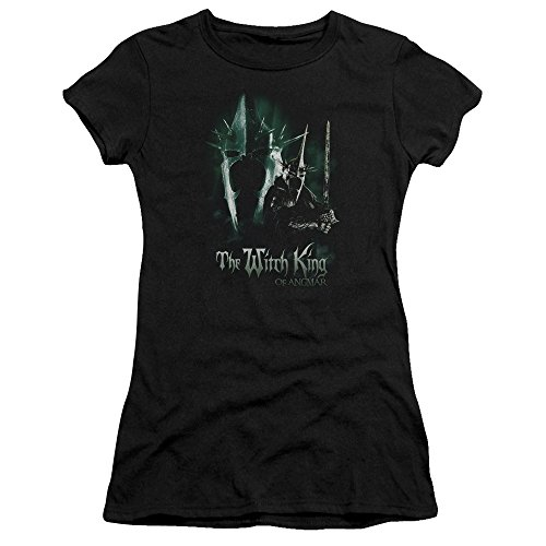 The Lord of the Rings Witch King Juniors Premium Bella Shirt (Black, - Deluxe Witch King
