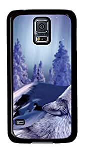 Cute Painting Samsung Galaxy S5 Case and Cover -Winter Wolf3 PC Hard Plastic Case for Samsung S5/Samsung Galaxy S5
