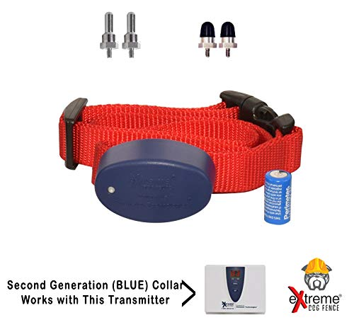 Extreme Dog Fence G2 Additional Fence Dog Collar with Large and Medium Set of Comfort Contacts for Dogs and Puppies of All Hair Lengths by Extreme Dog Fence