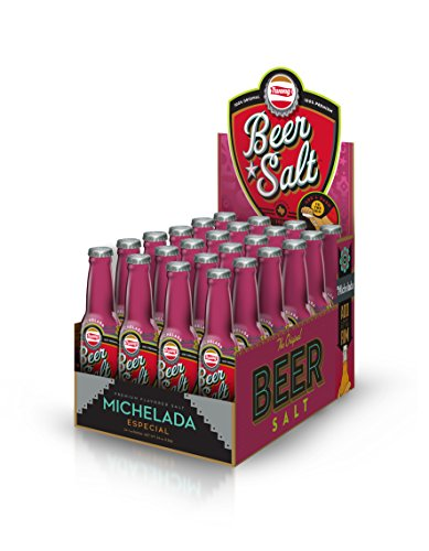 Twang Michelada Flavored Salt, Beer Salt Box, Citrus Dressed Beer, 1.4 Ounce Mini Bottles, 24 Count
