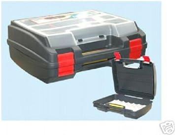 Caja maleta para taladro con organizador, 37 x 33 x 14 cm.: Amazon.es: Bricolaje y herramientas