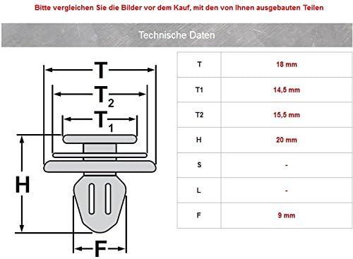 20/x int/érieur verkleidungs Clip Pom Fixation de trombones CL de 0062
