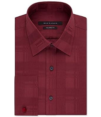 Sean John Mens Big & Tall Tailored Fit Button Up Dress Shirt
