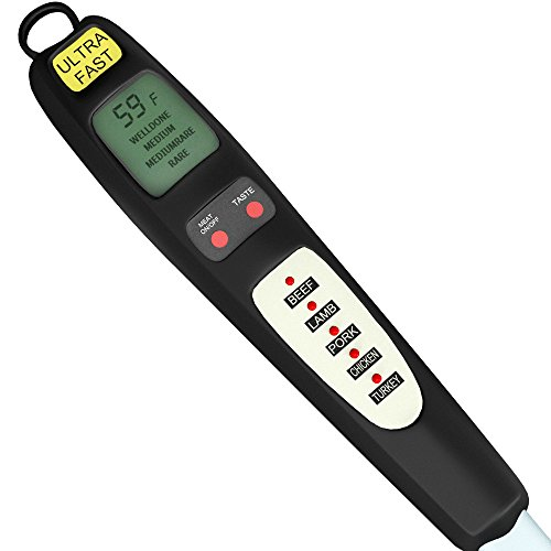 pre programmed digital meat thermometer instant probe. Black Bedroom Furniture Sets. Home Design Ideas