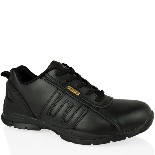 GR86 Unisex Cuero Groundwork de Seguridad de Negro Zapatos Negro gx1UY