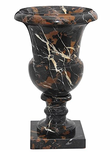 Amazon Tall Black And Brown Marble Planter Urn Decorative