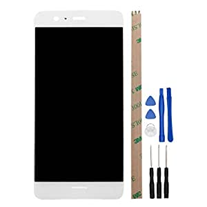 For Huawei P10 Plus LCD Digitizer Replacement HYYT New LCD display and Touch Screen Digitizer with Frame Full of assembly (white)