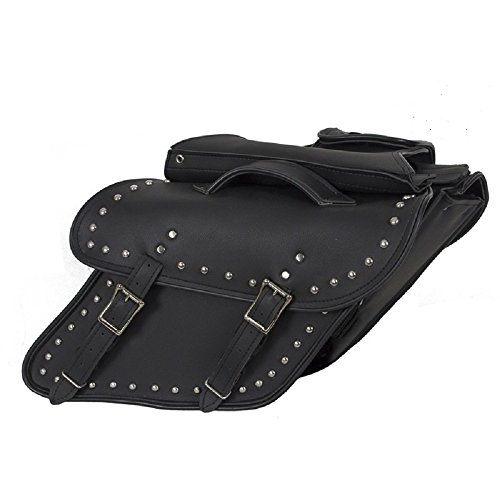Motorcycle Saddlebags for Harley Davidson Dyna Wide Glide with Studds
