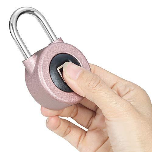 Kacul Fingerprint Padlock,Smart Metal Waterproof iOS/Android APP Smart Remote Control Keyless Luggage Lock for Bag,Door,Backpack,Bike (Rose) (rs001) by Kacul (Image #6)