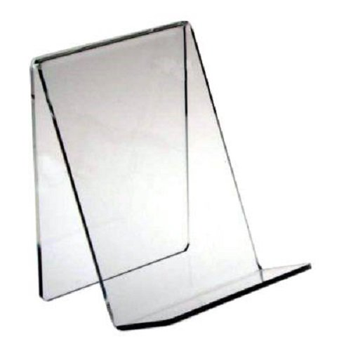 Source One Heavy Duty Clear Easels Book Stands Acrylic Pack Of 3 - Medium