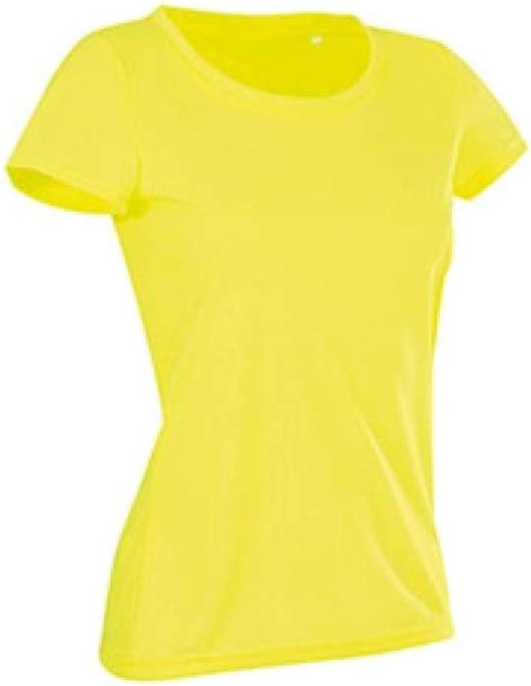 Stedman - Camiseta Deportiva de algodón Modelo Active para Mujer (S/Amarillo Cyber): Amazon.es: Ropa y accesorios