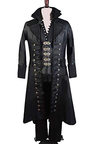 GOTEDDY Halloween Hook Cosplay Robe Tunic Outfit Black