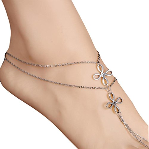 Tassel Shaped (Sinfu® Clearance! Anklet for 1PC Fashion Beach Multi Tassel Toe Chain Link Foot Jewelry Anklet Chain Gift (Chain Length: 27cm/10.6inch, A))