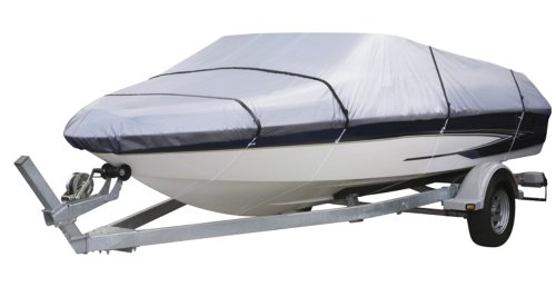 "Pyle Unisex Adult Boat Protection Storage Armor Cover - 14'-16'L to 75"" Beam Width Universal Waterproof, Mildew and Weather Resistant Polyester Fabric PCVTB111, 14-16-Feet x - 14' Shield"