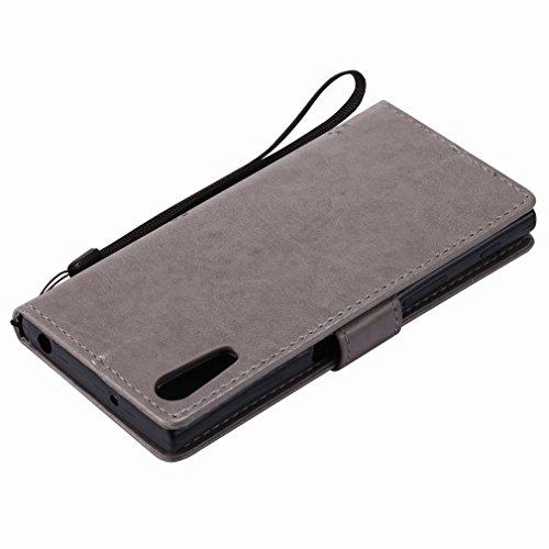 Yiizy Sony Xperia XZ F8332 Funda, árbol De Dibujo Diseño Solapa Flip Billetera Carcasa Tapa Estuches Premium PU Cuero Cover Cáscara Bumper Protector Slim Piel Shell Case Stand Ranura para Tarjetas Est