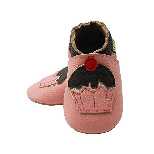 Sayoyo Kuchen WeichesLeder Lauflernschuhe Krabbelschuhe Babyschuhe Pink