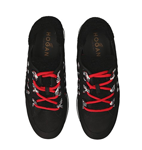 Zapatillas Hogan GYW3280J720HTAB999 Mujer Gamuza Negro OwfXBx
