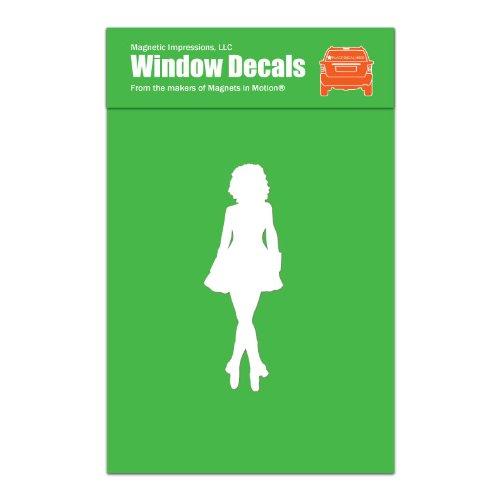 def9b8be1b61 Irish Dancer Female Car Window Decal White