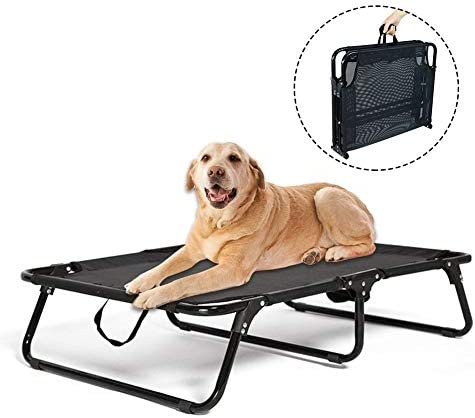 Fasteer Indoor-Outdoor Large Folding Pet Bed Elevated Baby Bed, Travel Portable Breathable Cooling Net Sleeping Dog Bed, Size 715816, Bear Maximum 120kg