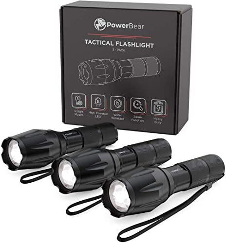 PowerBear Flashlight Weather Resistant Waterproof Emergency