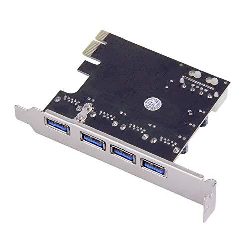 Blanco Adaptador de tarjeta de expansi/ón PCI Express de 4 puertos PCI-E a USB 3.0 HUB 5 Gbps Velocidad superior