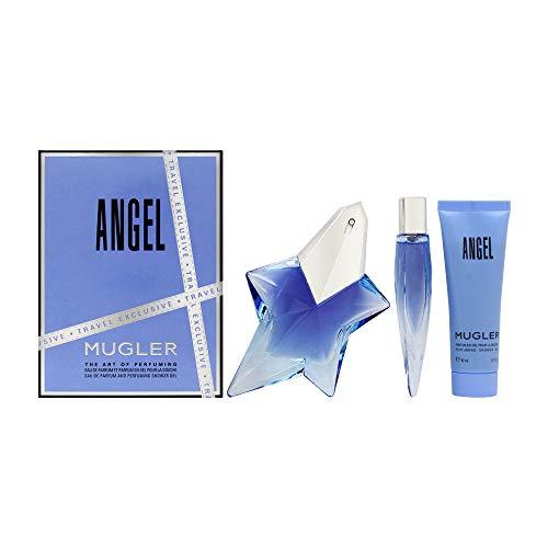 Angel By Thierry Mugler Gift Set - Thierry Mugler Angel By Thierry Mugler 3 Piece Gift Set - 1.7 Oz Eau De Parfum Spray, 0.3 Oz Eau De Parfum, 1.7 Oz Showe