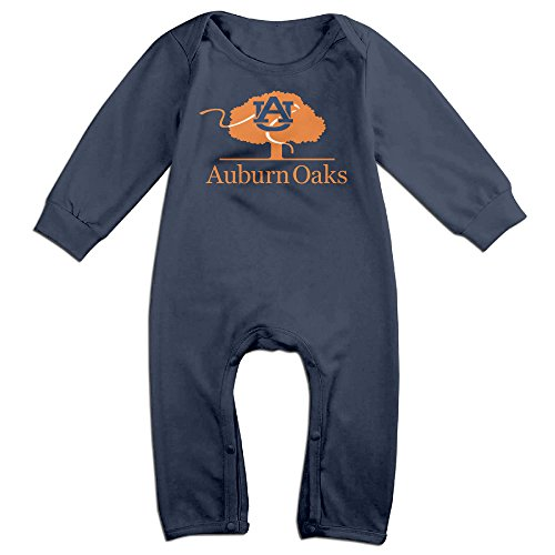 [HOHOE Boy's & Girl's Auburn Tree Logo University Long Sleeve Jumpsuit Outfits 24 Months] (Tim Drake Costume)
