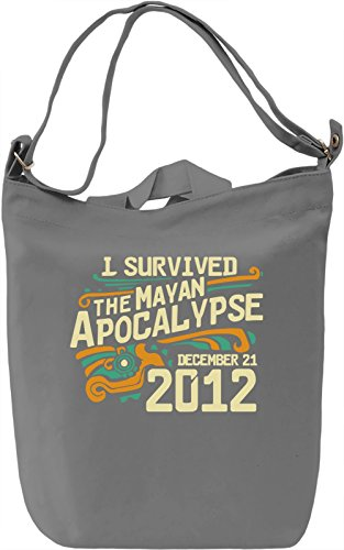 I Survived The Mayan Apocalypse Borsa Giornaliera Canvas Canvas Day Bag| 100% Premium Cotton Canvas| DTG Printing|