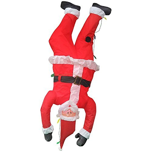 Outdoor Lighted Santa Boots in US - 7
