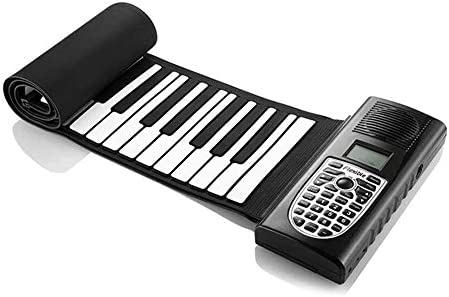 ZYK 49 Keys Double Speaker Roll Up Piano Upgraded Portable Rechargeable Electronic Hand Roll PianoEnvironmental Silicone Piano Keyboard for Beginner / ZYK 49 Keys Double Speaker Roll Up Piano Upgraded Portable Rechargeable Electron...