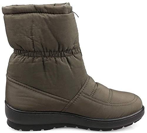 Snow Faux Winter Ladies Fur Boots Women Kemosen Warm Boot Anti Outdoor Ankle Slip Green Waterproof fnTWqRqwxg
