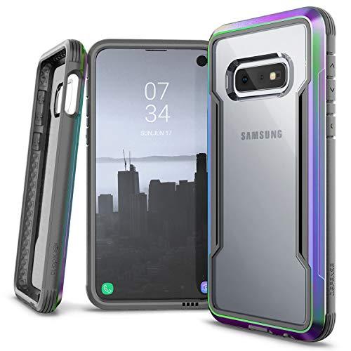 X-Doria Defense Shield Series, Samsung Galaxy S10e Phone Case - Military Grade Drop Tested, Anodized Aluminum, TPU, and Polycarbonate Protective Case for Samsung Galaxy S10e, (Iridescent)