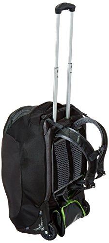 "Osprey Packs Sojourn Wheeled Luggage, Flash Black, 45 L/22"""
