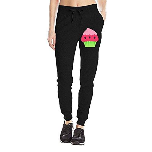 Losport Women's Strawberry Ice Cream Cotton Joggers Pants Slim Fit Bottoms Jersey Sweatpant With Pockets L (Mackenzie Pie)