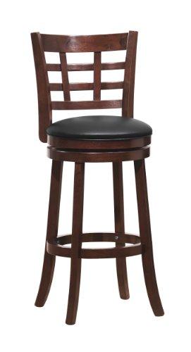 Homelegance 1142E-29S Swivel Pub Height Chair/Stool, Dark Cherry ()