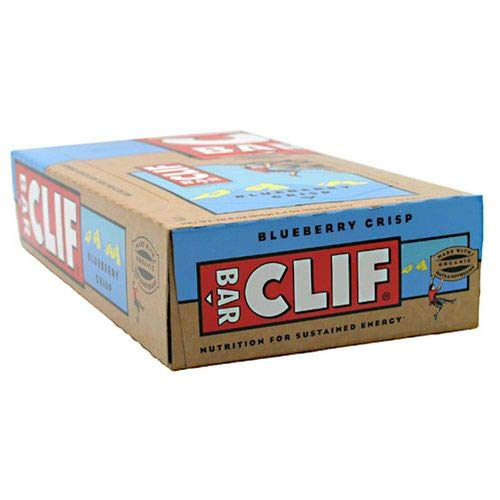 CLIF BAR – Energy Bar – Blueberry Crisp – 2.4 Ounce Protein Bar, 12 Count