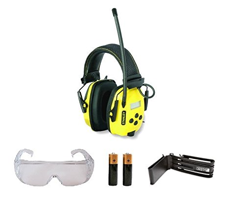 Stanley SYNC Digital AM/FM/MP3 Radio Noise Reduction Headphones CLIP GLASSES 2AA by The ROP Shop