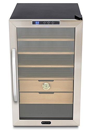 Price comparison product image Whynter CHC-251S Stainless Steel 400-Cigar Cooler Humidor, 2.5 Cubic Feet