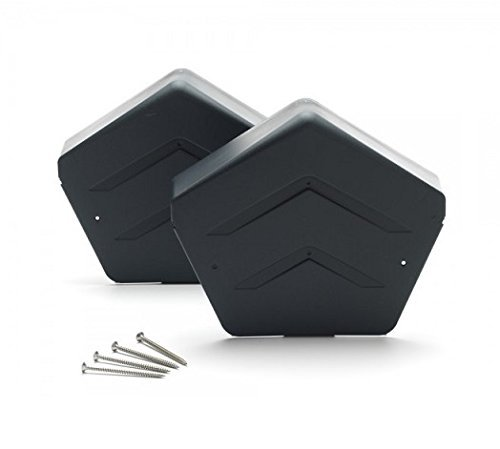 Dry Verge Ridge End Cap with Free Fixing Screws - Grey - Square Manthorpe