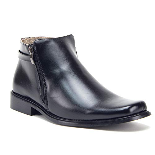 Classic High Boot - Men's 38307 Ankle High Double Zippered Classic Boots, Black, 12