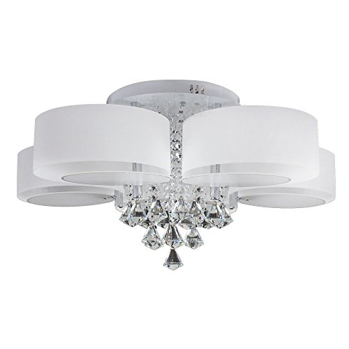 Modern 5 Light Chandelier Flush Mount With Color Changing Import It All