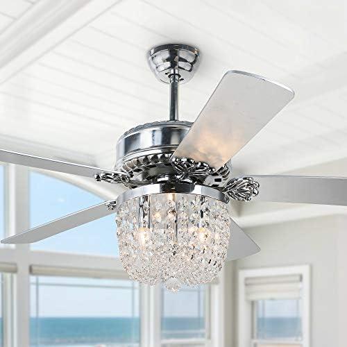 52″ Crystal Ceiling Fan