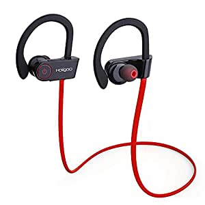 holigoo bluetooth headphones bluetooth 4 1 sport headset sweatproof in ear earbuds. Black Bedroom Furniture Sets. Home Design Ideas