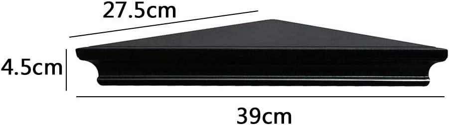 38.4 x 27.5 x 5cm AHDECOR cocina ba/ño para dormitorio sal/ón Estante esquinero de pared juego de 2 unidades Negro oficina y m/ás