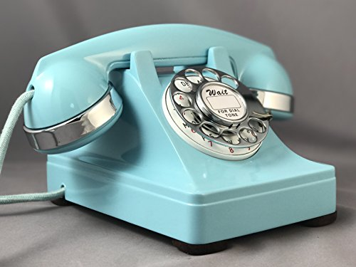 302 Phone (Western Electric Model 302 Telephone Custom Aqua Blue - With Rotatone Converter)