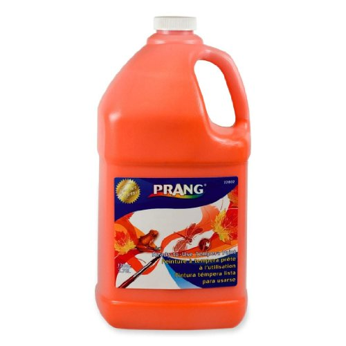 Prang Ready-to-Use Liquid Tempera Paint, 1 Gallon Bottle, Orange (22802)